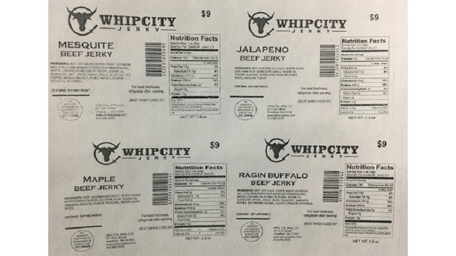 Mass. company recalls beef jerky over labeling error