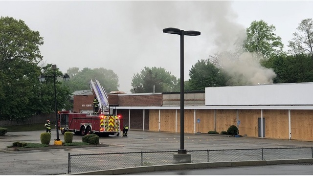 Firefighters respond to fire at former Benny's building in Seekonk