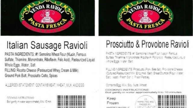 More Than 600 Pounds Of Raviolis Recalled From Local Company