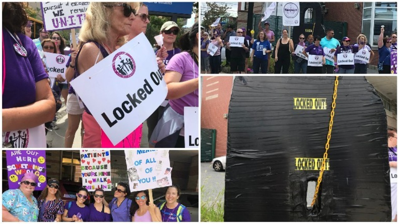 Image result for Rhode Island hospital workers encouraged to seek jobless benefits during lockout