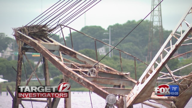 Owner of sunken crane-barge tells DEM he cannot afford to move it