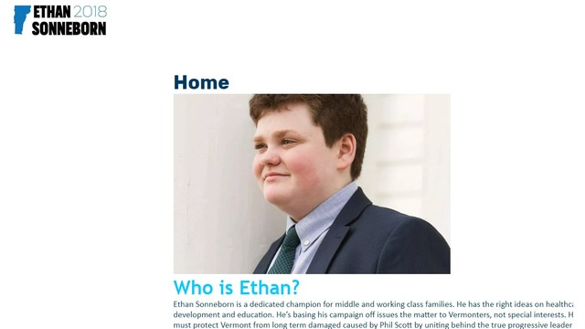 14-year-old boy uses legal quirk to run for Vermont governor | WPRI