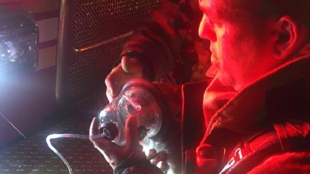 man dog rescued from warwick house fire