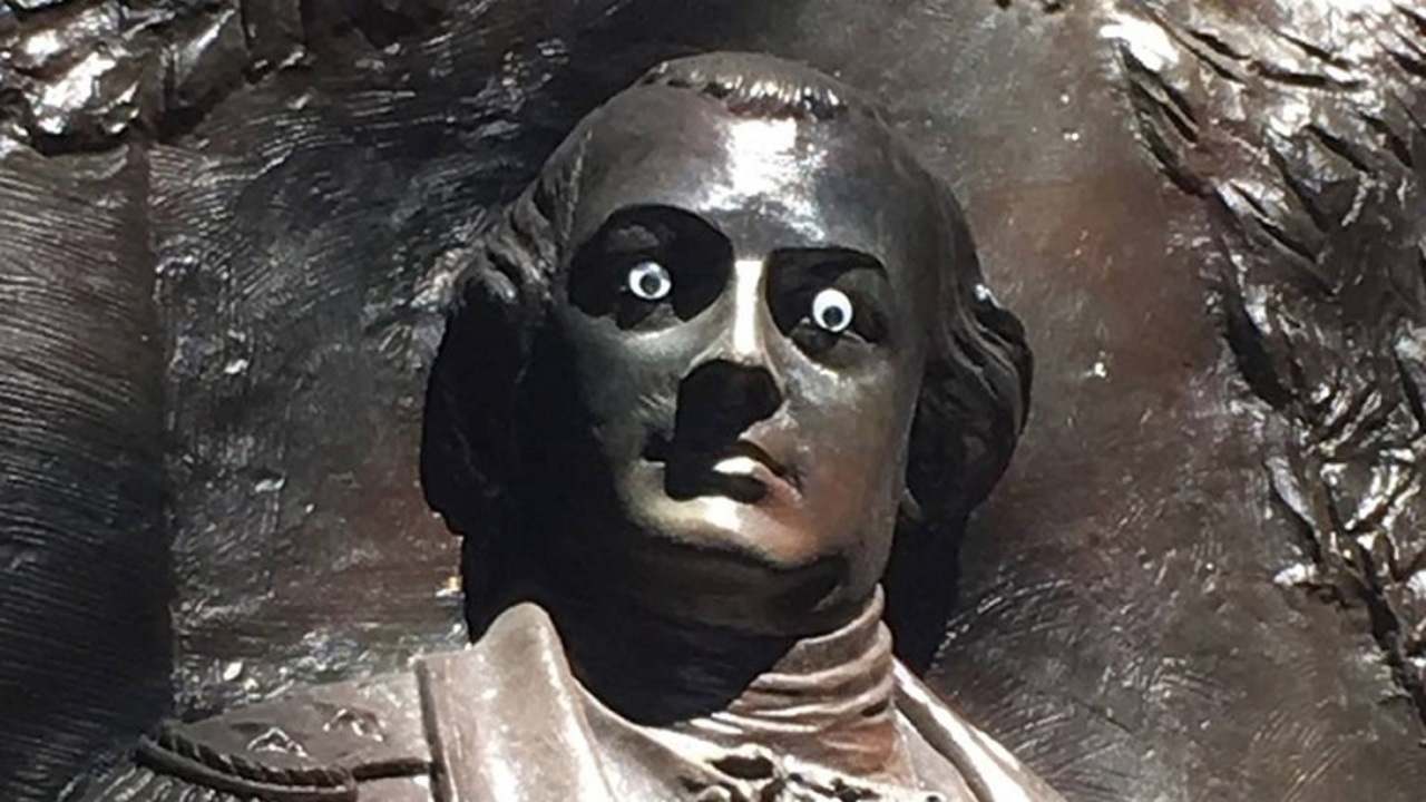 Post goes viral after statue of RI's Nathanael Greene defaced