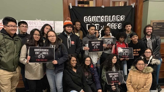 Providence Student Union calls for 'Counselors Not Cops'