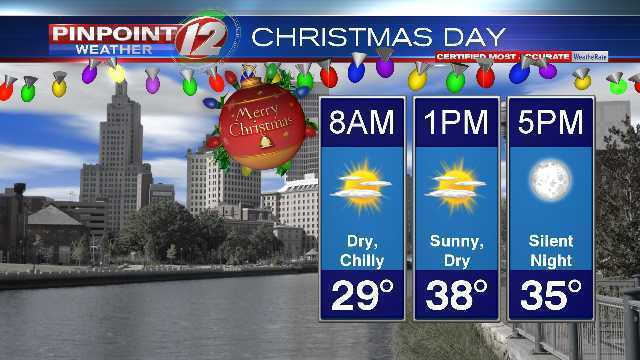 Weather Christmas Day 2019 Light Snow and Rain Showers Continue Through Christmas Eve Day