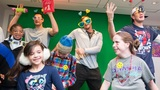 Gronk parties with kids at Boston Children's Hospital