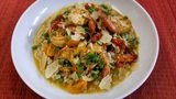 In the Kitchen: Shrimp Scampi with Spring Vegetables & Organic Barley