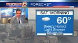 WEATHER NOW: Showers, Mild And Humid Saturday
