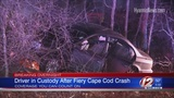 Police: OUI suspect almost hit cruiser before fiery crash