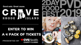 Enter to win tickets to CRAVE RI!