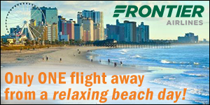 One flight away, relaxing beach day - Frontier Airlines